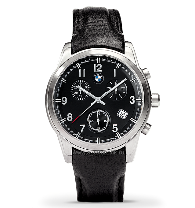 551a4803 Мужские наручные часы BMW Quartz Chrono Men's Watch with Leather Strap