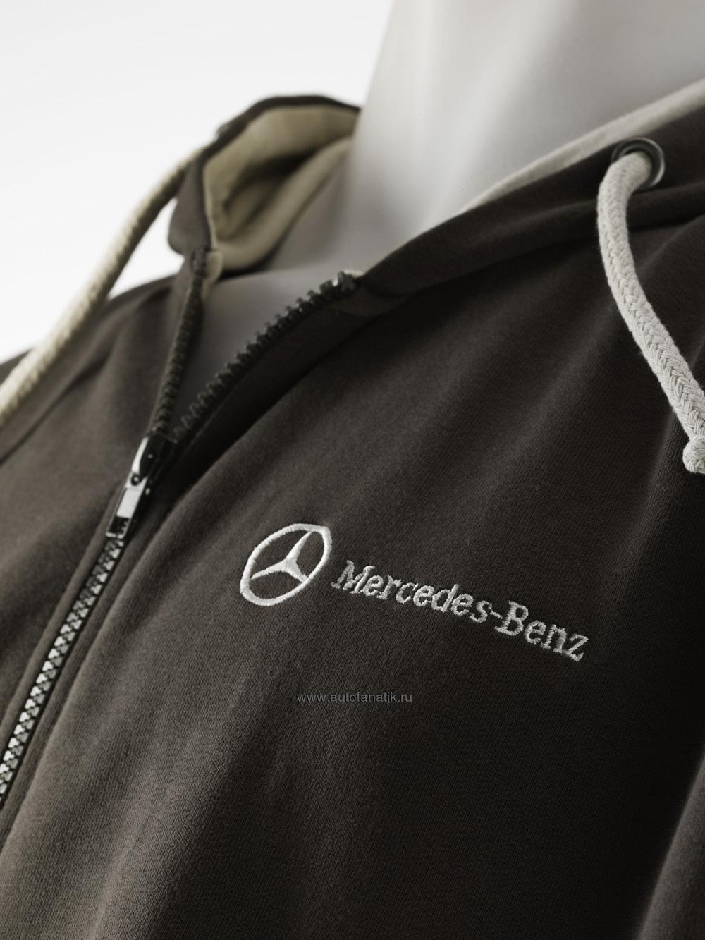 Mercedes men s hooded sweat jacket for Mercedes benz sweatsuit