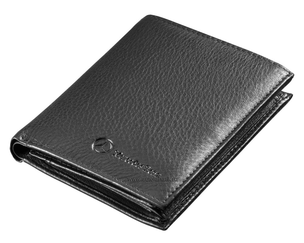 mercedes benz men 39 s leather wallet. Black Bedroom Furniture Sets. Home Design Ideas