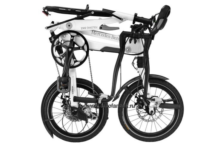 Mercedes benz folding bike white for Mercedes benz folding bike