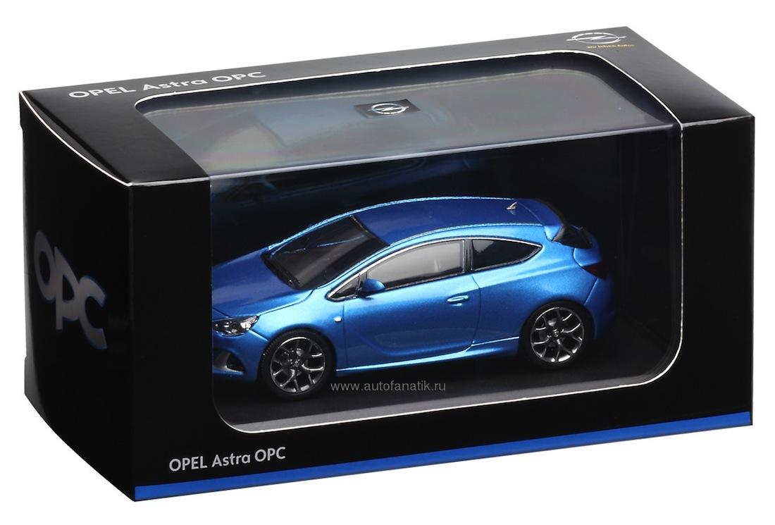 Модель автомобиля opel astra gtc opc 1 43 blue