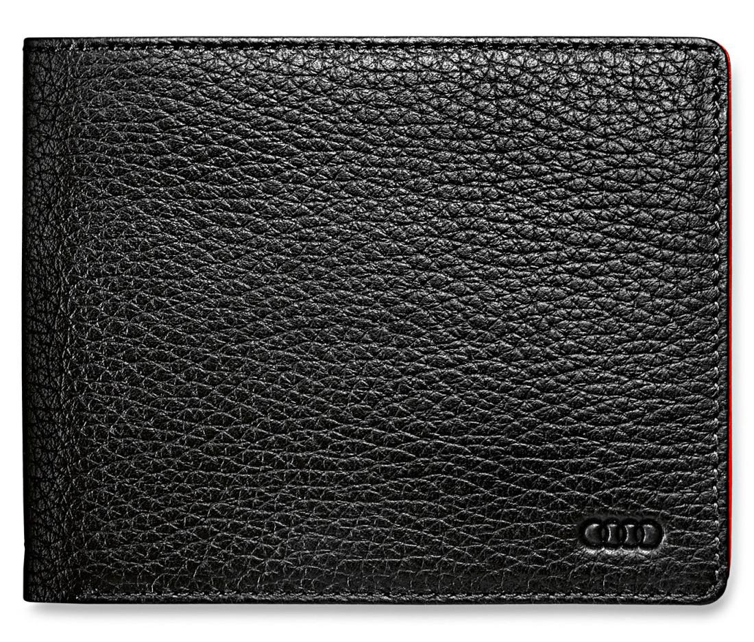 21ec245f6646 Мужской кожаный кошелек Audi Sport Mini purse, black/red