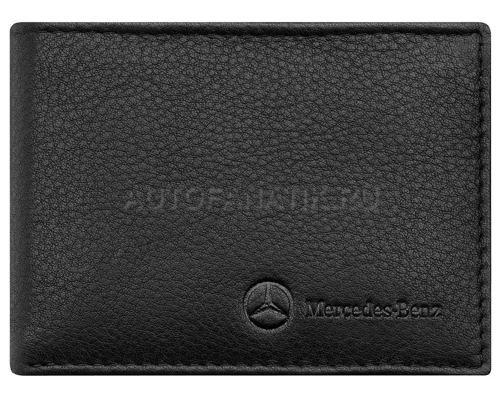 mercedes mini wallet basic black leather. Black Bedroom Furniture Sets. Home Design Ideas