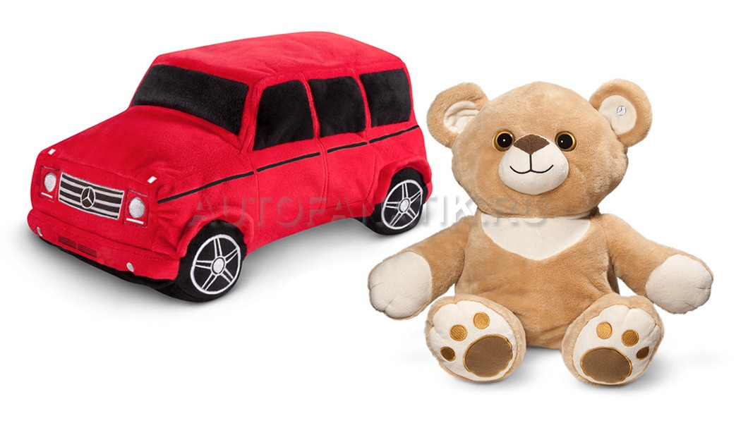 Mercedes benz double side plus toy bear g for Mercedes benz bear