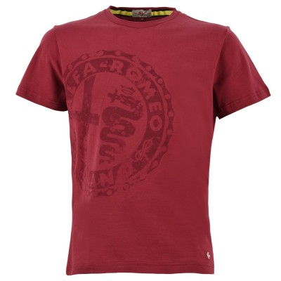 Мужская футболка Alfa Romeo Men's Vintage S-Sleeved T-Shirt, Red