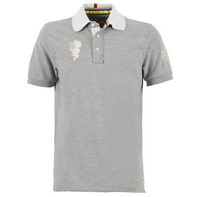 Мужская рубашка поло Alfa Romeo Men's Vintage S-Sleeved Polo Shirt, Grey Melange