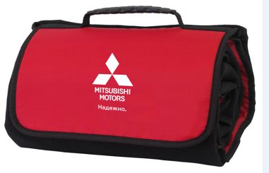 Сумка-плед Mitsubishi Plaid-Bag, Black-Red