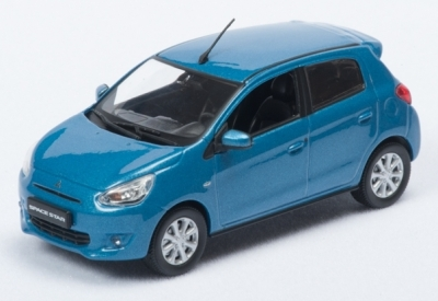 Модель автомобиля Mitsubishi Global Small, 1:43 scale, Blue