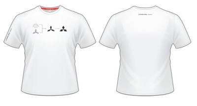 Мужская футболка Mitsubishi Men's T-Shirt History, White