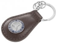 Кожаный брелок Mercedes Key ring, Classic, Brown Leather
