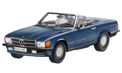 Модель Mercedes-Benz 300 SL, R107 (1985-1989), for Europe, Blue Metallic, Scale 1:18