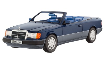 Модель Mercedes-Benz 300 CE-24, Cabriolet, A124 (1992-1993), Blue Metallic, Scale 1:18