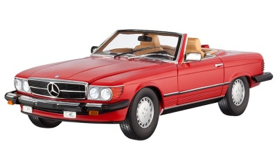 Модель Mercedes-Benz 300 SL, R107 (1985-1989), for USA, Red Metallic, Scale 1:18