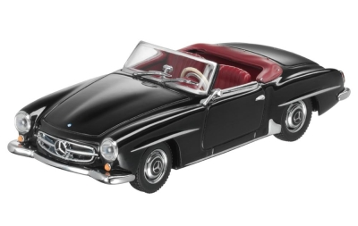 Модель Mercedes-Benz 190 SL Cabriolet (W121) 1955-1963, Black Metallic, Scale 1:43
