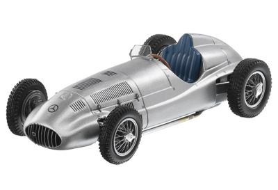 Модель Mercedes-Benz 1.5-litre race car, W165, 1939, Silver, Scale 1:43