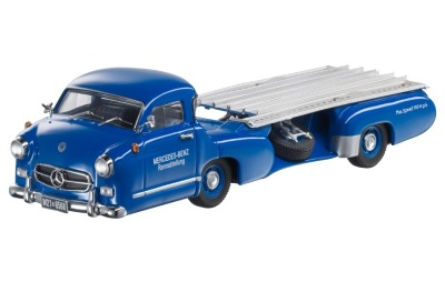 Модель Mercedes-Benz Race car transporter, 1955, Blue, Scale 1:43
