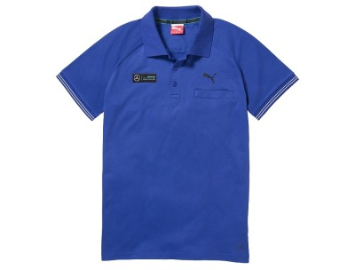 Мужская футболка поло Mercedes F1 Men's polo shirt, Hamilton 2015, Blue
