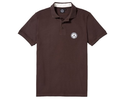 Мужская футболка поло Mercedes-Benz Men's Polo Shirt, Vintage Star, Brown