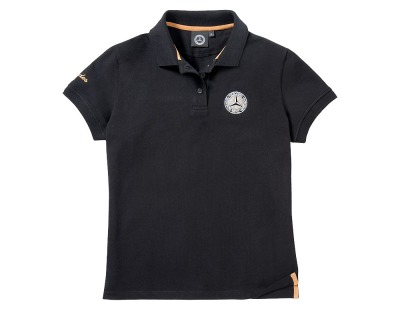 Женская футболка поло Mercedes-Benz Women's Polo Shirt, Vintage Star, Black