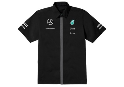 Мужская рубашка Mercedes-Benz F1 Men's shirt, Team 2015, Black
