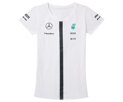 Женская футболка Mercedes F1 Women's T-shirt, Team 2015, White