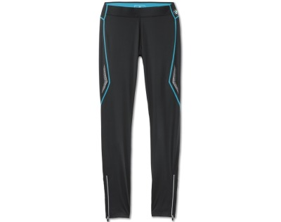 Женские спортивные штаны BMW Athletics Sports Tights, long, ladies, Black - Ocean Blue