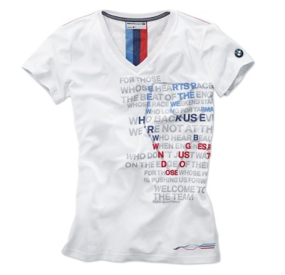 Женская футболка BMW Motorsport Graphic T-Shirt, ladies, White