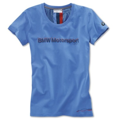 Женская футболка BMW Motorsport Fan T-Shirt, ladies, Light Blue
