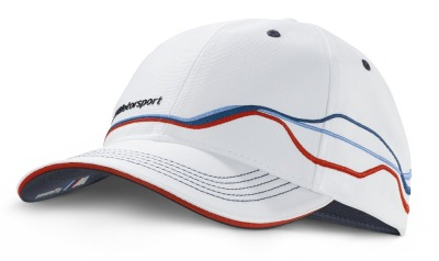Бейсболка BMW Motorsport Fan Cap, unisex, White/Blue
