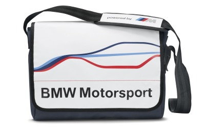 Спортивная сумка BMW Motorsport Messenger Bag, White/Team Blue