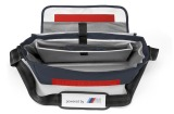 Спортивная сумка BMW Motorsport Messenger Bag, White/Team Blue, артикул 80222285881