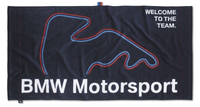 Пляжное полотенце BMW Motorsport Beach Towel Dark Blue