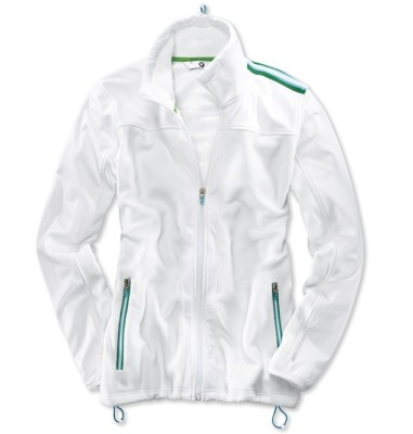 Женская флисовая куртка BMW Golfsport Fleece Jacket, ladies, White/Green