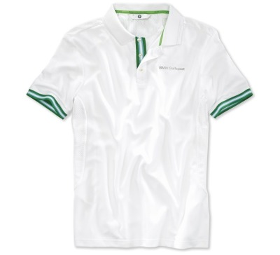 Мужская футболка BMW Golfsport Polo Shirt, men, White/Green