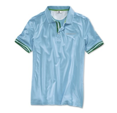 Мужская футболка BMW Golfsport Polo Shirt, men, Aqua