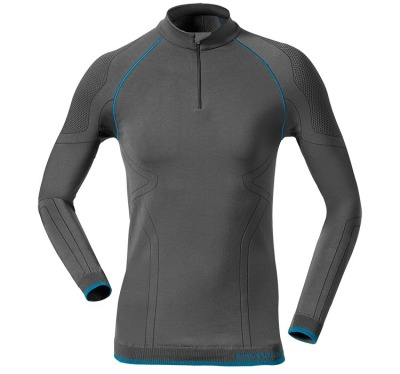 Женская термофутболка BMW Motorrad Woman's Thermo Functional Undergarments, Shirt, Gray/Blue