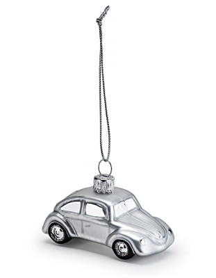 Елочная игрушка Volkswagen Decoration Christmas Silver Beetle