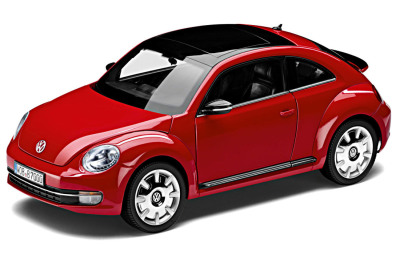 Модель автомобиля Volkswagen Beetle, Tornado Red, Scale 1:18