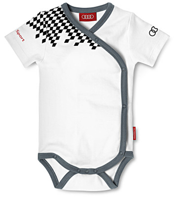 Боди для мальчиков Audi Babys Body -King of The Road-, Audi Sport, White-Grey