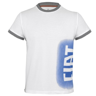 Мужская футболка Fiat S.Sleeved T-shirt For Men, White With Blue Spray