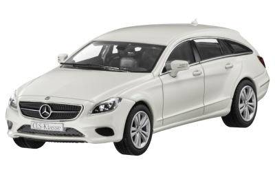 Модель Mercedes-Benz CLS-Class Shooting Brake, Designo Diamond White Bright, 1:43 Scale