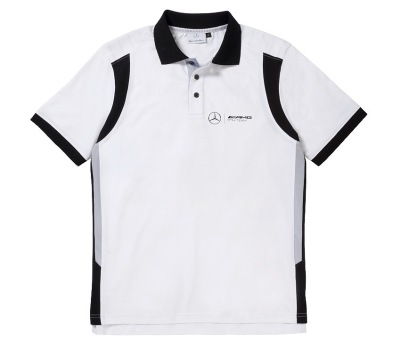 Мужская рубашка поло Mercedes Men's polo shirt DTM Selection, White