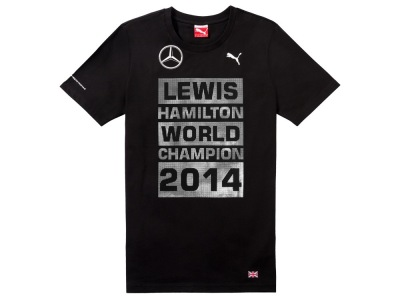 Футболка унисекс Mercedes Unisex T-shirt, F1 Driver World Champion 2014