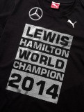 Футболка унисекс Mercedes Unisex T-shirt, F1 Driver World Champion 2014, артикул B67995255