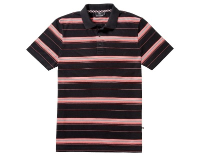 Мужская рубашка поло Mercedes Men's Polo Shirt, Coral Woven Stripes