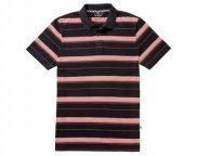 Мужская рубашка-поло Mercedes Men's Polo Shirt, Coral Woven Stripes