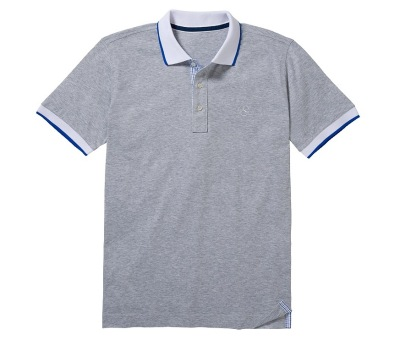 Мужская рубашка поло Mercedes Men's Polo Shirt, Slim Fit, Grey