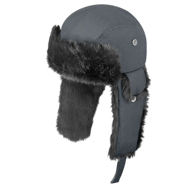 Шапка ушанка Mercedes-Benz Hat with earflaps, Trucker, Grey
