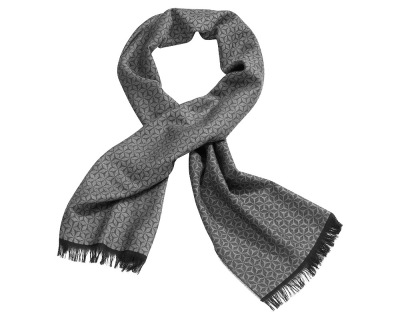 Мужской шерстяной шарф Mercedes-Benz Men's scarf, Business, Anthracite/grey/black