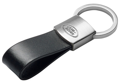Брелок для ключей Land Rover Leather Loop Keyring, Black